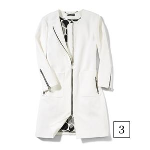 Black Label Patch Pocket White Coat Jacket
